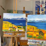 Cheese and Wine Painting Club