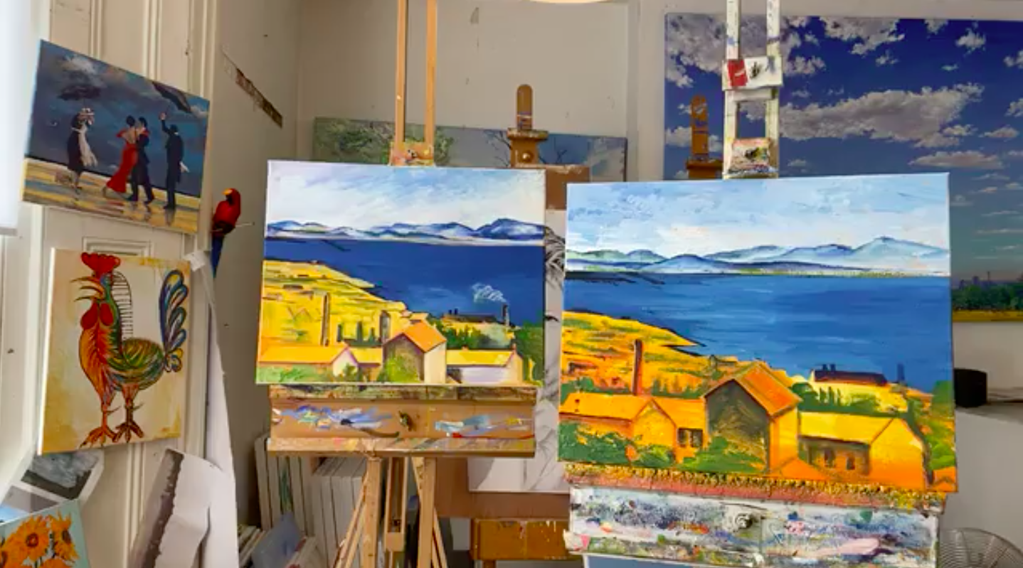 Cheese And Wine Painting Club Online Painting Classes